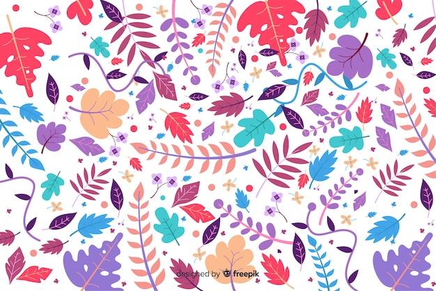 Fondo colorido floral