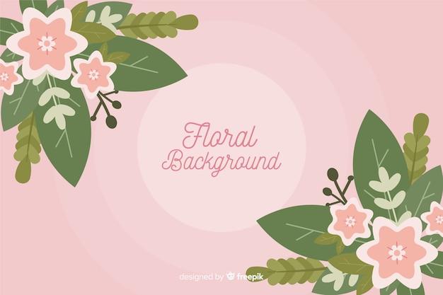 Fondo colorido de flores en diseño plano