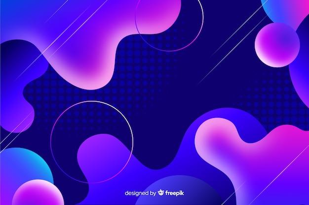 Fondo colorido con formas abstractas fluidas