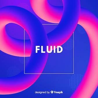 Fondo colorido de formas fluidas en 3d