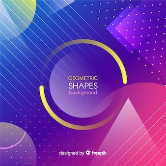 Fondo colorido de formas geométricas con degradado