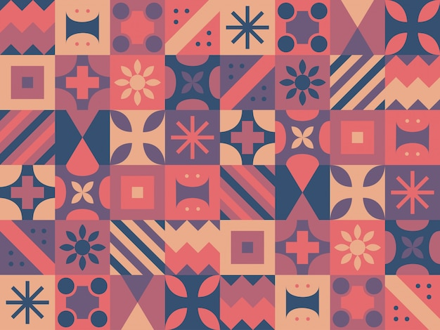 Fondo colorido formas geométricas