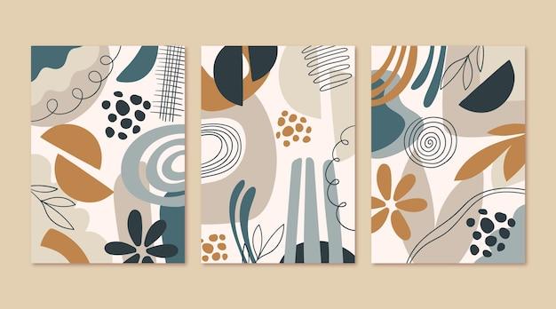 Fondo colorido con formas de hojas