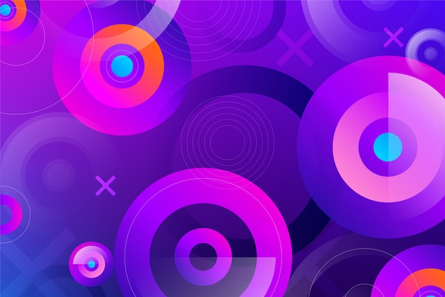 Fondo colorido con formas redondas