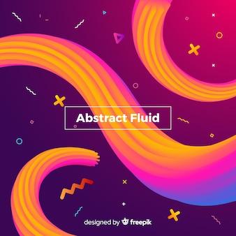 Fondo colorido con formas  tridimensionales fluidas