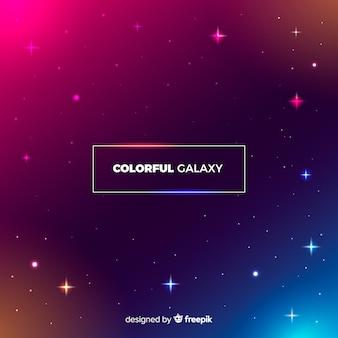 Fondo colorido de galaxia con diseño plano