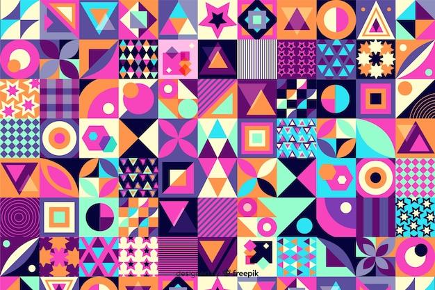 Fondo colorido geométrico de losas de mosaico