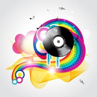 Fondo colorido groovy de música