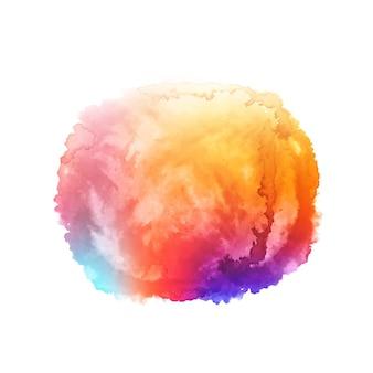 Fondo colorido de la mancha del chapoteo de la acuarela