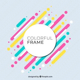 Fondo colorido con marco