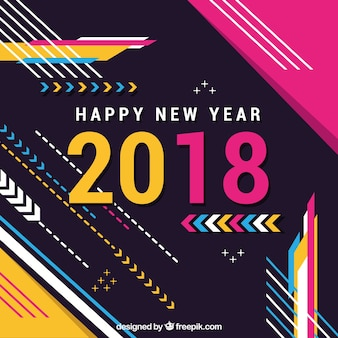 Fondo colorido memphis para 2018