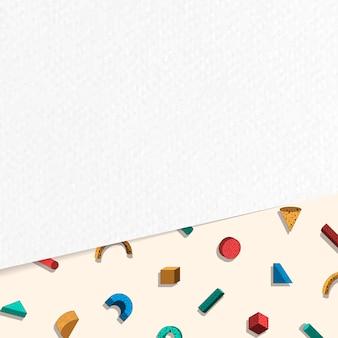 Fondo colorido de memphis