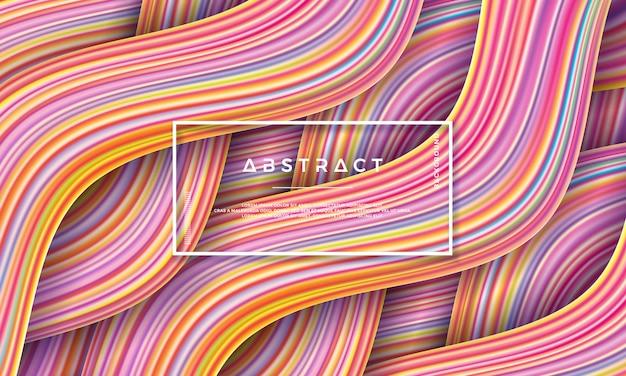 Fondo colorido moderno del flujo.