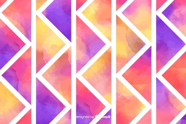 Fondo colorido mosaico de acuarela