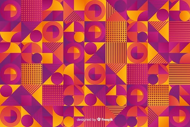 Fondo colorido de mosaico geométrico en estilo degradado