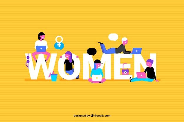 Fondo colorido de las mujeres