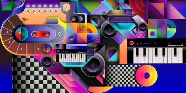 Fondo colorido de la música de la ilustración del vector