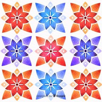 Fondo colorido ornamento floral