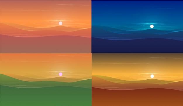 Fondo colorido paisaje de la naturaleza.
