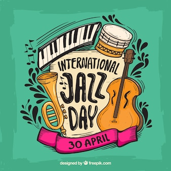Fondo colorido para el día internacional del jazz