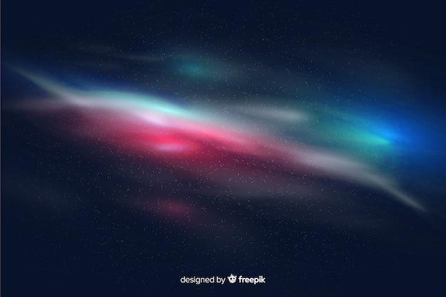 Fondo colorido de partículas de galaxia
