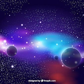 Fondo colorido de planetas