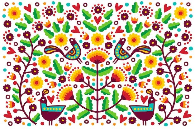 Fondo colorido plano mexicano