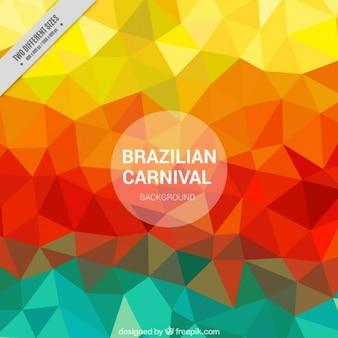 Fondo colorido poligonal de carnaval