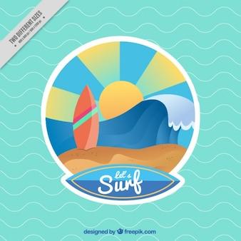Fondo colorido de surf
