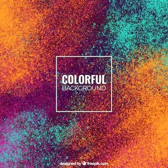 Fondo colorido en turquesa y ocre