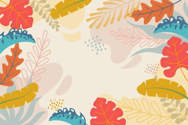 Fondo colorido de verano para el tema de zoom
