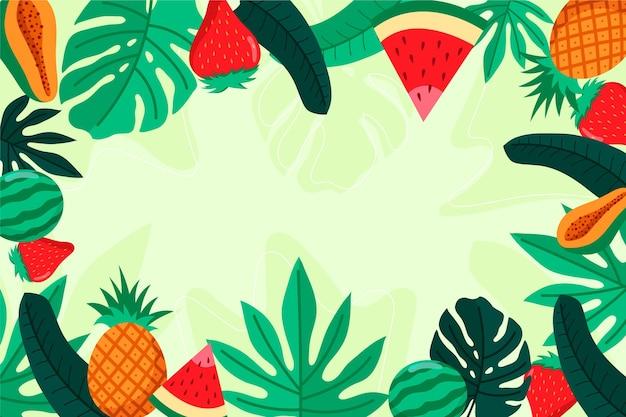 Fondo colorido de verano para zoom