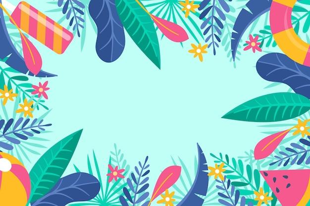 Fondo colorido de verano
