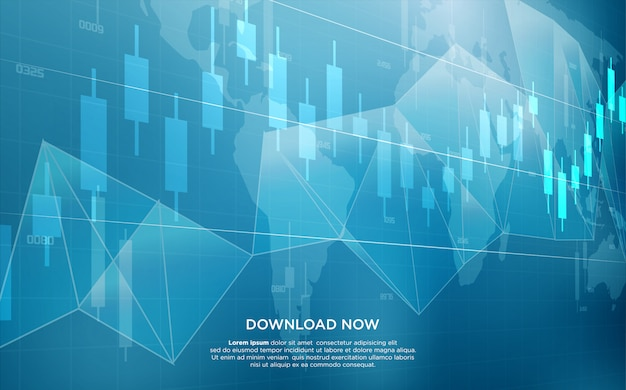 Fondo comercial con la ilustración de un gráfico de barras que se eleva hacia arriba