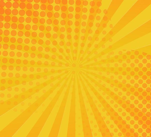 Fondo de cómic amarillo