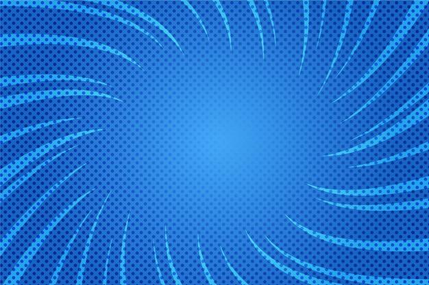 Fondo de cómic azul diseño plano