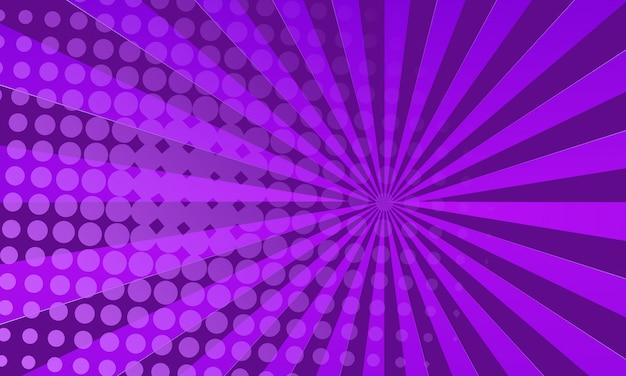 Fondo de cómic púrpura