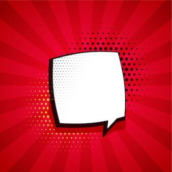 Fondo cómico con burbuja de chat y espacio de texto