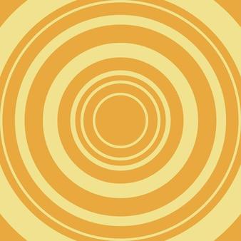 Fondo cómico. círculo amarillo sobre fondo naranja. ilustración vectorial.