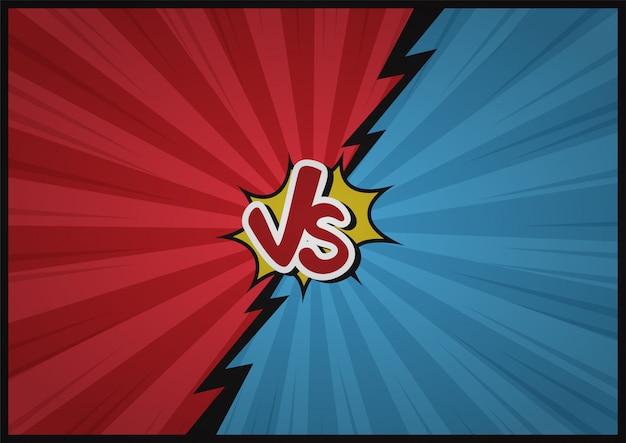 Fondo cómico de dibujos animados de lucha