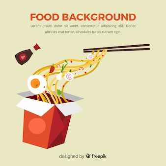 Fondo de comida en diseño plano