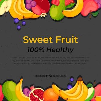 Fondo de comida con frutas