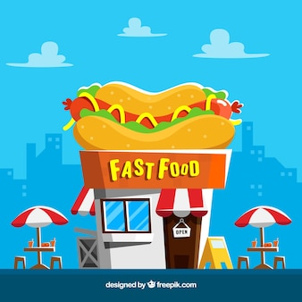 Fondo de comida rápida