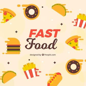 Fondo con comida rápida