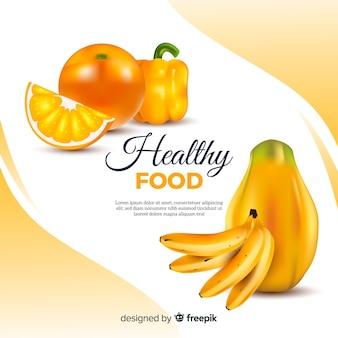 Fondo de comida saludable realista