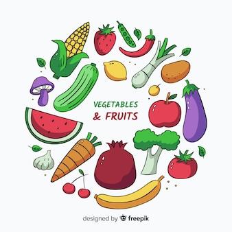 Fondo de comida saludable