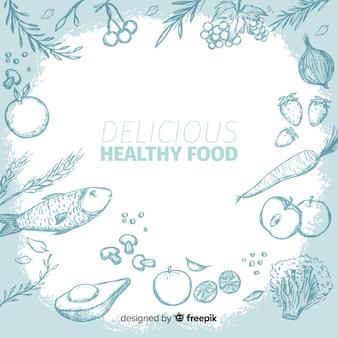 Fondo de comida sana y saludable