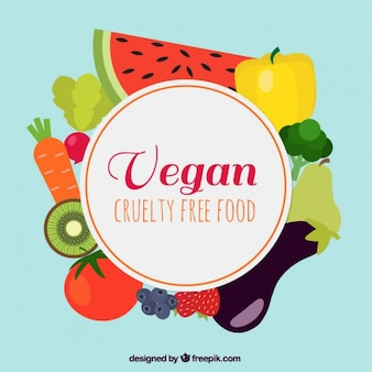 Fondo de comida vegana deliciosa