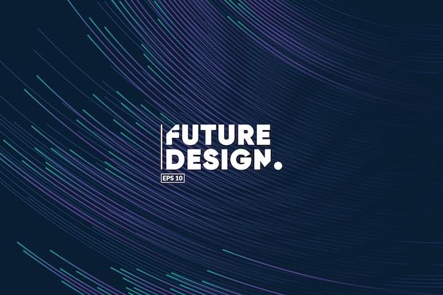 Fondo de composición de líneas de degradado. futuro, tecnología, big data, plantilla de tema de ciencia.