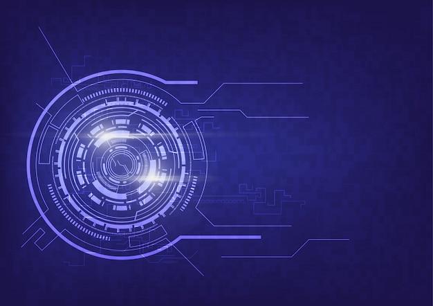 Fondo de comunicación de tecnología abstracta
